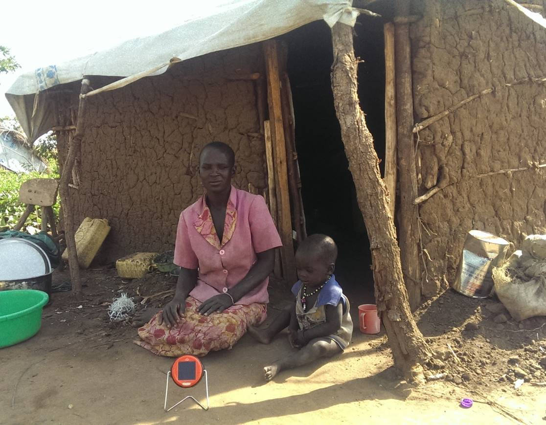 Solar lights for South Sudanese refugees